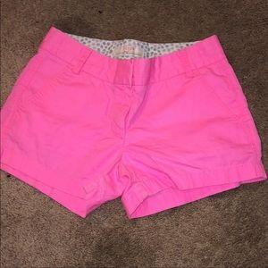 J crew bright pink shorts